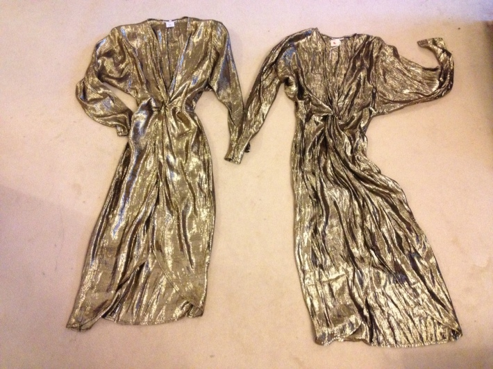 Gold lame dresses