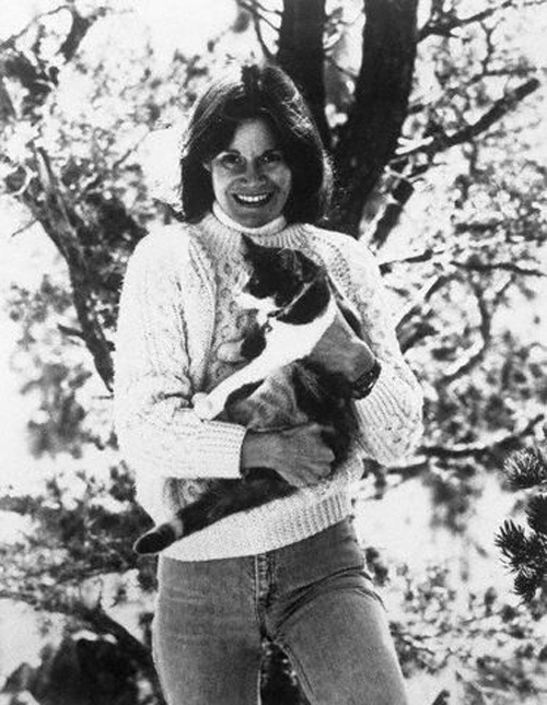 Judy Blume with Her Cat