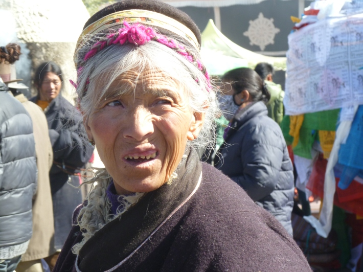 Photograph of Tibetan lady