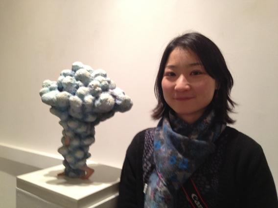 Japanese artist Haruko Yamada - artist with her work