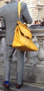 big yellow man bag