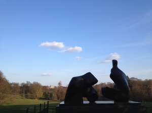Henry Moore sculpture on Hampstead Heath