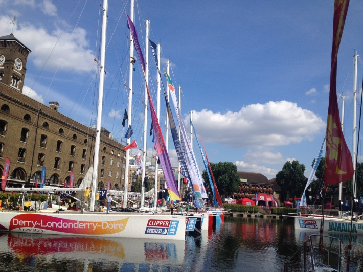 Clipper yachts at St Katherine's Dock