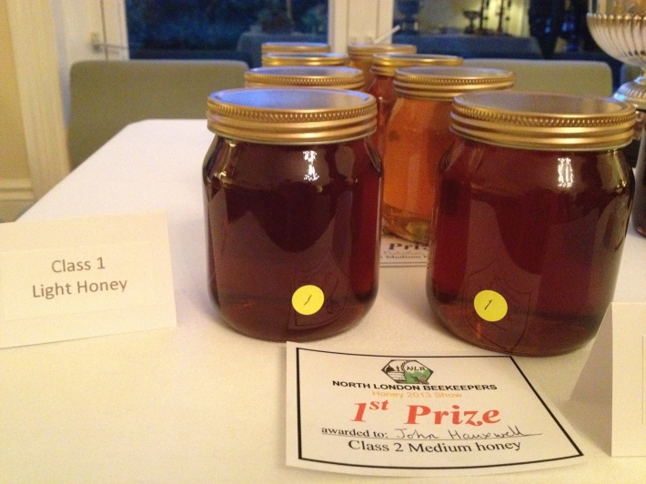 North London Beekeepers honey winner
